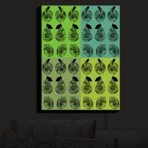 Nightlight Sconce Canvas Light | Susie Kunzelman - Mod Fruit Squares Greens 3