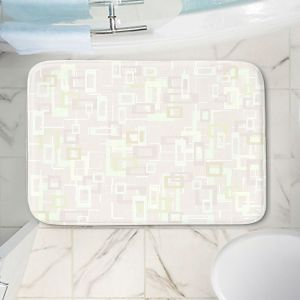 Decorative Bathroom Mats | Susie Kunzelman - Mod Squares Creams | Pattern abstract light