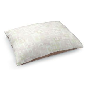 Decorative Dog Pet Beds | Susie Kunzelman - Mod Squares Creams | Pattern abstract light