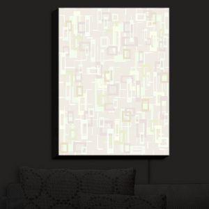 Nightlight Sconce Canvas Light | Susie Kunzelman - Mod Squares Creams