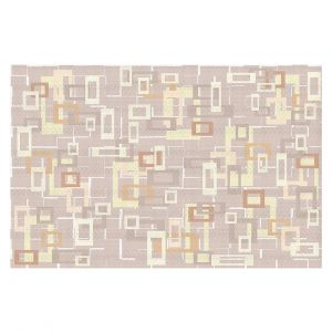 Decorative Floor Covering Mats | Susie Kunzelman - Mod Squares Neutral | Pattern abstract light