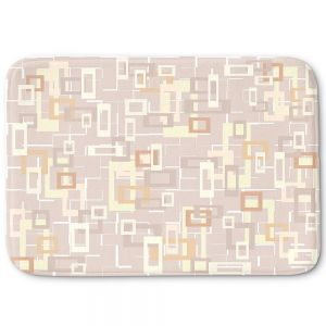 Decorative Bathroom Mats | Susie Kunzelman - Mod Squares Neutral | Pattern abstract light