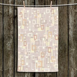 Unique Bathroom Towels | Susie Kunzelman - Mod Squares Neutral | Pattern abstract light