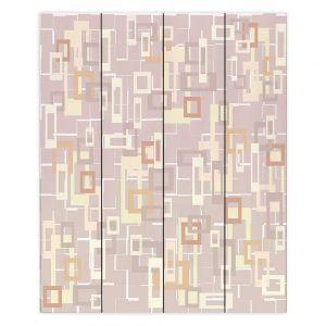 Decorative Wood Plank Wall Art   Susie Kunzelman - Mod Squares Neutral   Pattern abstract light