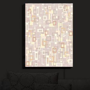 Nightlight Sconce Canvas Light | Susie Kunzelman - Mod Squares Neutral