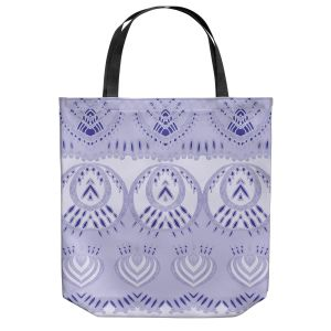 Unique Shoulder Bag Tote Bags | Susie Kunzelman - Mountains Lilac | abstract pattern