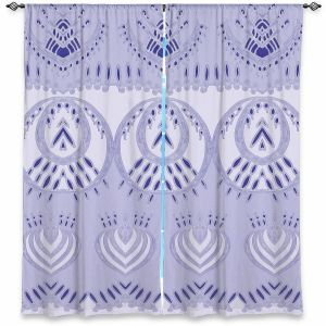 Decorative Window Treatments | Susie Kunzelman - Mountains Lilac | abstract pattern