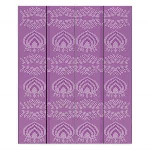 Decorative Wood Plank Wall Art   Susie Kunzelman - Mountains Plum   abstract pattern