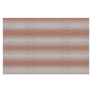 Decorative Floor Covering Mats | Susie Kunzelman - North East 1 Salmon | Stripe pattern