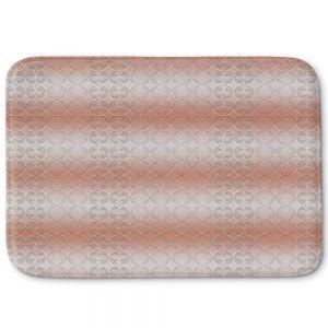 Decorative Bathroom Mats | Susie Kunzelman - North East 1 Salmon | Stripe pattern