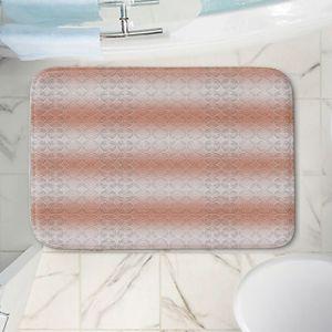 Decorative Bathroom Mats   Susie Kunzelman - North East 1 Salmon   Stripe pattern
