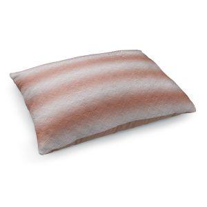 Decorative Dog Pet Beds | Susie Kunzelman - North East 1 Salmon | Stripe pattern