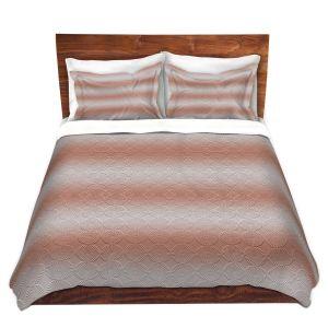 Artistic Duvet Covers and Shams Bedding | Susie Kunzelman - North East 1 Salmon | Stripe pattern