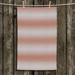 Unique Hanging Tea Towels | Susie Kunzelman - North East 1 Salmon | Stripe pattern