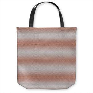 Unique Shoulder Bag Tote Bags | Susie Kunzelman - North East 1 Salmon | Stripe pattern