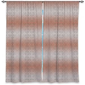 Decorative Window Treatments | Susie Kunzelman - North East 1 Salmon | Stripe pattern