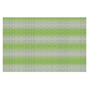 Decorative Floor Covering Mats | Susie Kunzelman - North East 1 Soft Lime | Stripe pattern
