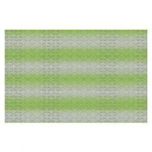 Decorative Floor Covering Mats | Susie Kunzelman - North East 1 Soft Lime | Stripe pattern