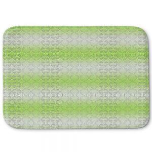 Decorative Bathroom Mats | Susie Kunzelman - North East 1 Soft Lime | Stripe pattern
