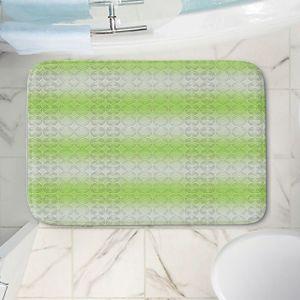 Decorative Bathroom Mats   Susie Kunzelman - North East 1 Soft Lime   Stripe pattern