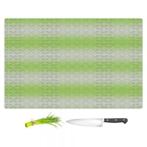Artistic Kitchen Bar Cutting Boards | Susie Kunzelman - North East 1 Soft Lime | Stripe pattern