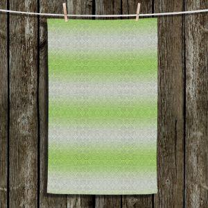 Unique Bathroom Towels | Susie Kunzelman - North East 1 Soft Lime | Stripe pattern