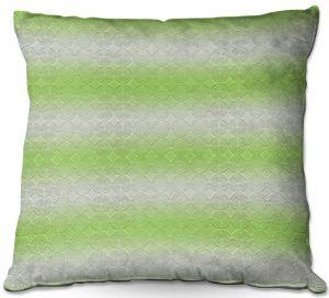 Throw Pillows Decorative Artistic | Susie Kunzelman - North East 1 Soft Lime | Stripe pattern