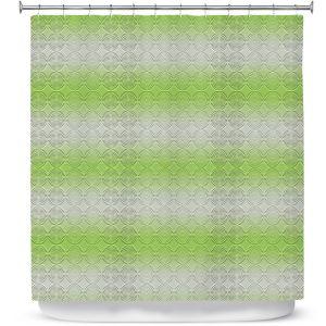 Premium Shower Curtains   Susie Kunzelman - North East 1 Soft Lime   Stripe pattern