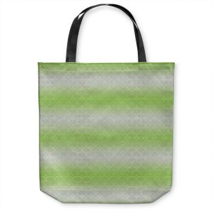 Unique Shoulder Bag Tote Bags | Susie Kunzelman - North East 1 Soft Lime | Stripe pattern