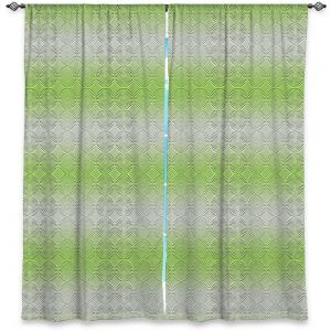 Decorative Window Treatments | Susie Kunzelman - North East 1 Soft Lime | Stripe pattern