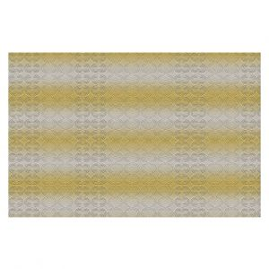 Decorative Floor Covering Mats | Susie Kunzelman - North East 1 Spicy Mustard | Stripe pattern