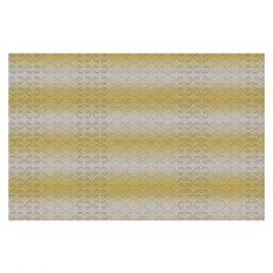 Decorative Floor Covering Mats | Susie Kunzelman - North East 1 Spicy Mustard | Stripe pattern