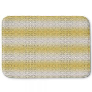 Decorative Bathroom Mats | Susie Kunzelman - North East 1 Spicy Mustard | Stripe pattern