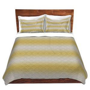 Artistic Duvet Covers and Shams Bedding | Susie Kunzelman - North East 1 Spicy Mustard | Stripe pattern