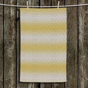Unique Bathroom Towels | Susie Kunzelman - North East 1 Spicy Mustard | Stripe pattern