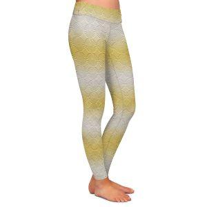 Casual Comfortable Leggings | Susie Kunzelman - North East 1 Spicy Mustard | Stripe pattern
