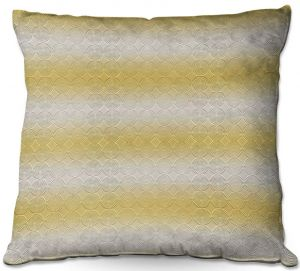 Decorative Outdoor Patio Pillow Cushion | Susie Kunzelman - North East 1 Spicy Mustard | Stripe pattern