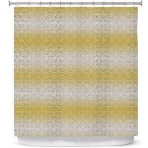 Premium Shower Curtains   Susie Kunzelman - North East 1 Spicy Mustard   Stripe pattern