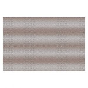 Decorative Floor Covering Mats | Susie Kunzelman - North East 1 Tan | Stripe pattern