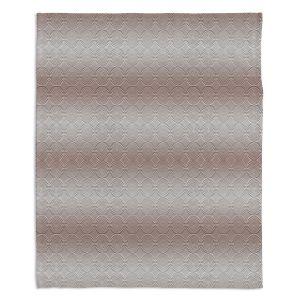 Decorative Fleece Throw Blankets | Susie Kunzelman - North East 1 Tan | Stripe pattern