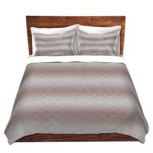 Artistic Duvet Covers and Shams Bedding | Susie Kunzelman - North East 1 Tan | Stripe pattern