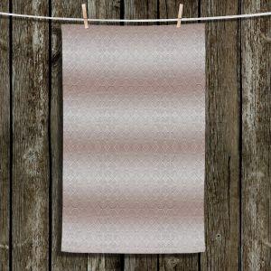 Unique Hanging Tea Towels | Susie Kunzelman - North East 1 Tan | Stripe pattern