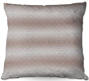 Decorative Outdoor Patio Pillow Cushion | Susie Kunzelman - North East 1 Tan | Stripe pattern