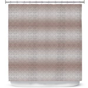 Premium Shower Curtains | Susie Kunzelman - North East 1 Tan | Stripe pattern