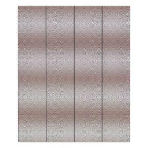 Decorative Wood Plank Wall Art | Susie Kunzelman - North East 1 Tan | Stripe pattern