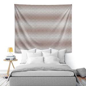Artistic Wall Tapestry   Susie Kunzelman - North East 1 Tan   Stripe pattern