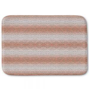 Decorative Bathroom Mats | Susie Kunzelman - North East 2 Salmon | Stripe pattern