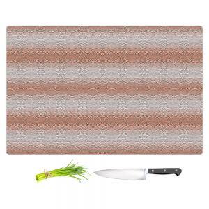 Artistic Kitchen Bar Cutting Boards | Susie Kunzelman - North East 2 Salmon | Stripe pattern