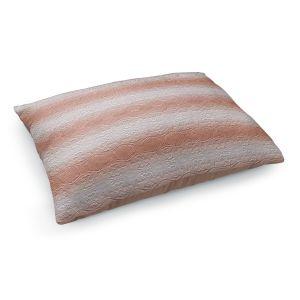 Decorative Dog Pet Beds | Susie Kunzelman - North East 2 Salmon | Stripe pattern