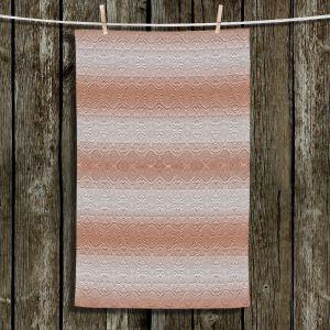 Unique Hanging Tea Towels | Susie Kunzelman - North East 2 Salmon | Stripe pattern